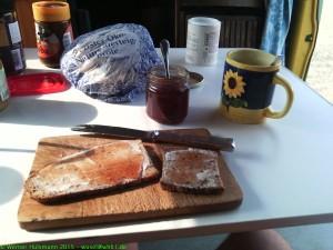Mein erstes Frühstück in unserem neuen Bulli